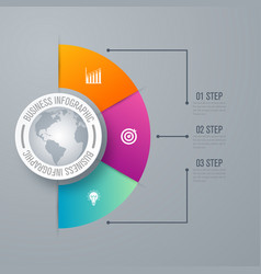 Design infographic template 3 steps vector