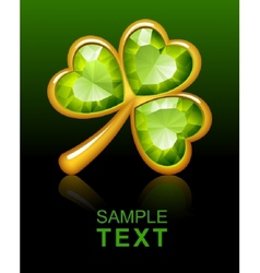 Jewelry shamrock 2 vector