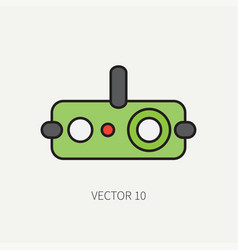 Line flat color military icon - night-vision vector