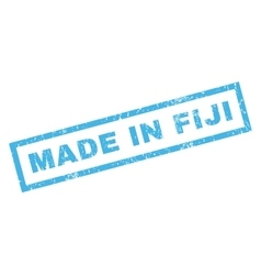Made in fiji rubber stamp vector