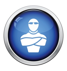 Night club security icon vector image