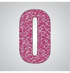 Pink sequins sings sequins alphabet eps 10 vector