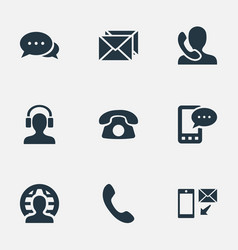 set of simple connect icons vector image vector image