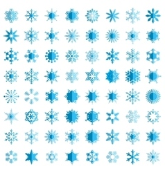 Snowflake simple icon isolated on white background vector