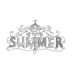 Summer floral ornament vector