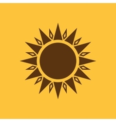 The sun icon Sunrise and sunshine weather sun vector image vector image