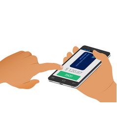 wireless payment concept payment screen and vector image