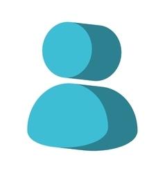 user isometric social icon vector image
