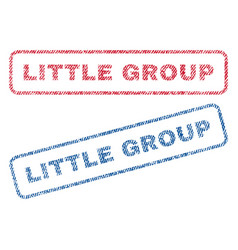 Little group textile stamps vector