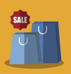 Shopping bags icon vector