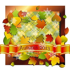 Autumn into Winter vector image