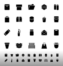 Package icons on white background vector
