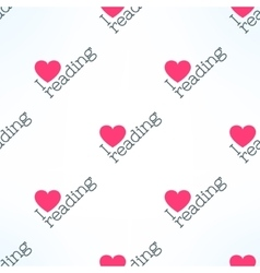 Love reading seamless pattern with heart vector