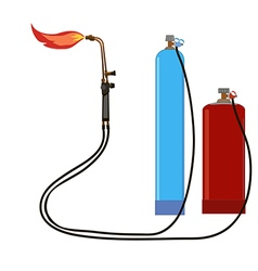 Oxy acetylene torch propane vector image