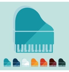 Flat design piano vector