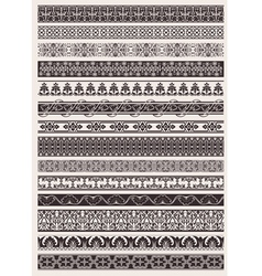 Seamless ornate border vector