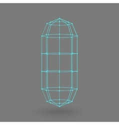 Polygonal capsule the capsule of the lines vector