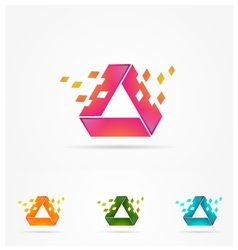 Technology rectangle logo vector