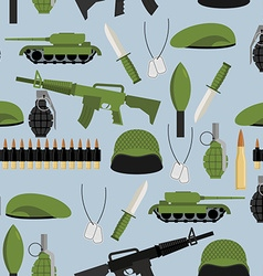 Army seamless pattern arms background tanks and vector