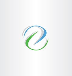 Blue green letter z logo icon sign vector