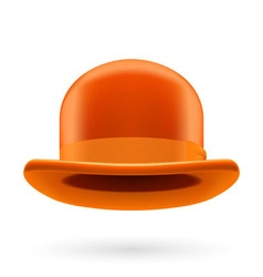 Orange bowler hat vector