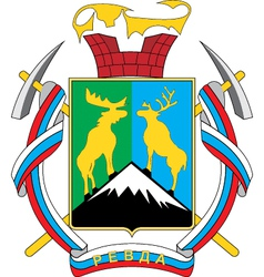 Revda Murmansk Oblast vector image
