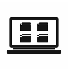 Desktop icon simple style vector