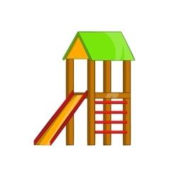 Slide house icon cartoon style vector