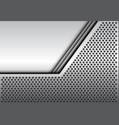 Abstract gray blank space metal circle mesh vector
