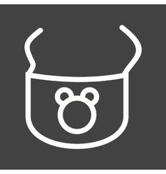 Baby Bib vector image vector image