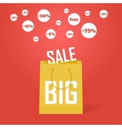 Big sale promotion discount background vector