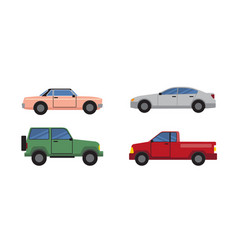 cars set of different color vector image