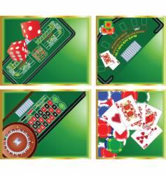 casino corners vector image