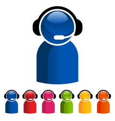 Colorful Customer Service Icons vector image vector image