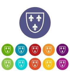 Crest set icons vector