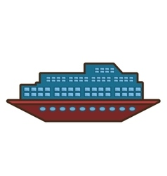Cruise ship travel maritime transport vector