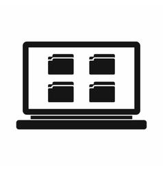 Desktop icon simple style vector image
