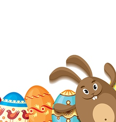 Eggs and hare vector