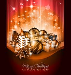 elegant christmas poster vector image vector image
