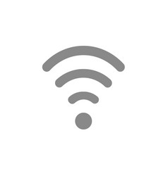 flat design style of wifi symbol icon on white vector image vector image