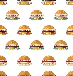 Flat hamburger seamless pattern vector