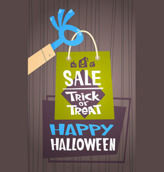halloween sale holiday seasonal discount concept vector image