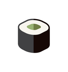 Isolated japanese food flat icon salmon rolls vector