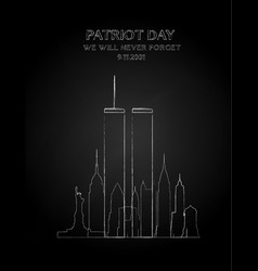 patriot day drawing vector image vector image