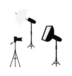 professional photo light equipment set vector image vector image