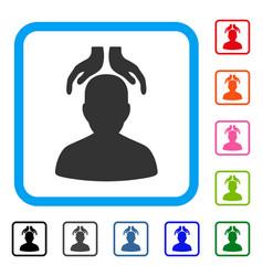 Psychiatry hands framed icon vector
