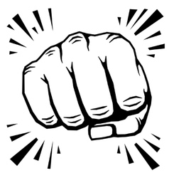 Punching fist hand vector image vector image