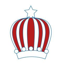 Queen or king crown vector