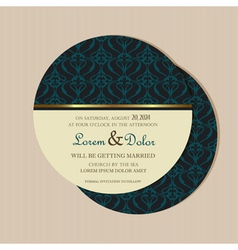 Round vintage invitation vector