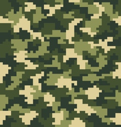 Seamless digital fashion camouflage vector
